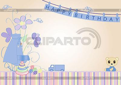 Florale Grusskarte | Stock Vektorgrafik |ID 3360176