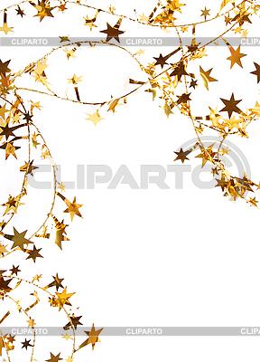 Goldene Sternen und Pailletten als Hintergrund | Foto mit hoher Auflösung |ID 3108446