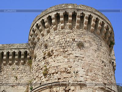希腊。罗得岛。在圣约翰骑士城堡塔 | 高分辨率照片 |ID 3112249