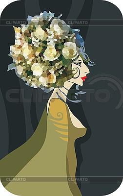 Królowa kwiatów | Klipart wektorowy |ID 3118027