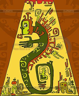 Hintergrund mit grüner Schlange | Stock Vektorgrafik |ID 3195542
