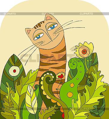 Трава cat глава векторный клипарт id