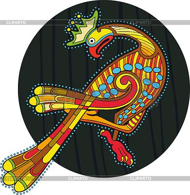 Kreis mit buntem keltischen Vogel | Stock Vektorgrafik |ID 3280392