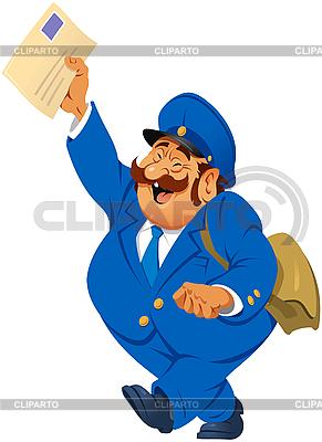 Briefträger mit Briefen | Stock Vektorgrafik |ID 3121523