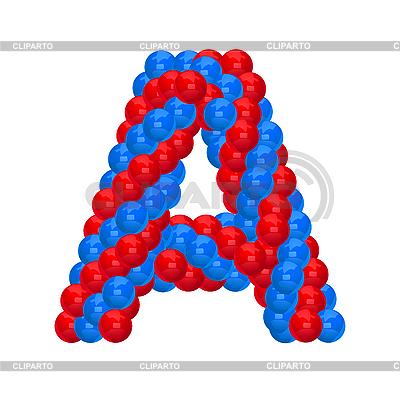 Буквица из воздушных шариков | Векторный клипарт |ID 3138623