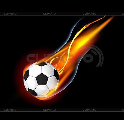 Piłka nożna w ogniu | Klipart wektorowy |ID 3154477
