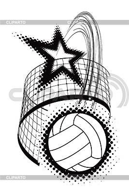 Volleyball-Sport-Design-Element | Stock Vektorgrafik |ID 3367797