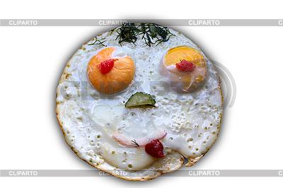 Twarz jajka sadzone | Foto stockowe wysokiej rozdzielczości |ID 3054489