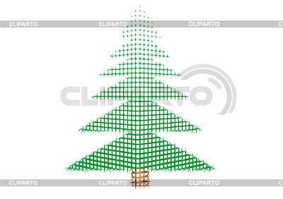 Zielony Nowy Rok drzewo | Stockowa ilustracja wysokiej rozdzielczości |ID 3054780