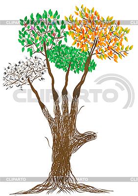 Рука в виде дерева сезонов | Иллюстрация большого размера |ID 3054782