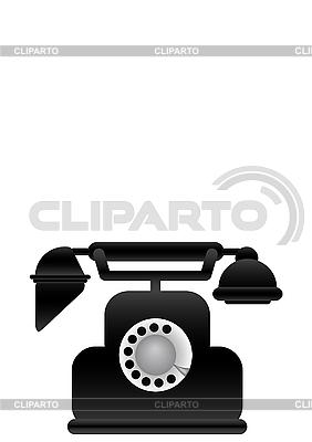 Czarny klasyczny telefon | Stockowa ilustracja wysokiej rozdzielczości |ID 3054800