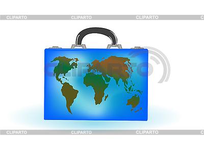 Walizka z mapy świata | Stockowa ilustracja wysokiej rozdzielczości |ID 3054819