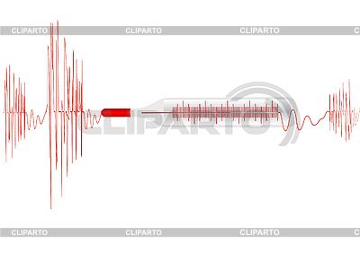 Kardiogramm mit einem Fieberthermometer | Foto mit hoher Auflösung |ID 3054820