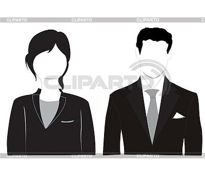 Silhouetten von Frau und Mann | Stock Vektorgrafik |ID 3055582