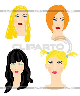 Женские прически | Векторный клипарт |ID 3061884