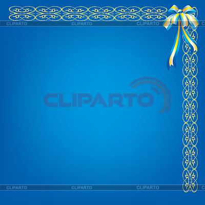 蓝色背景与模式和弓 | 向量插图 |ID 3064072