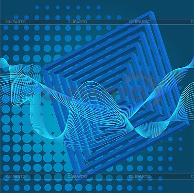 Abstrakter blauer Hintergrund | Stock Vektorgrafik |ID 3058893