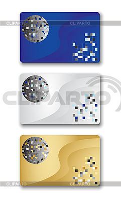 Visitenkarten mit Disco-Kugel | Stock Vektorgrafik |ID 3059877