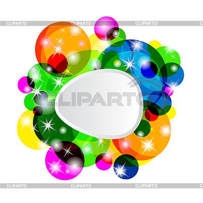 Bunte abstrakte Glückwunschkarte | Stock Vektorgrafik |ID 3077210
