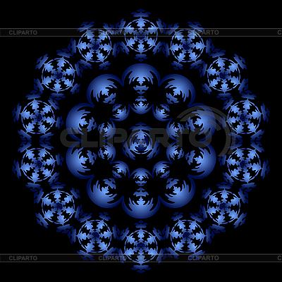 Niebieski okrąg ornament | Klipart wektorowy |ID 3079436