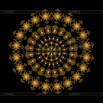 Złoty ornament koło | Klipart wektorowy |ID 3079442