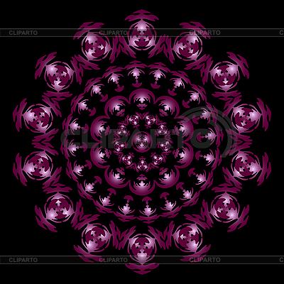 Ciemny czerwony ornament krąg | Klipart wektorowy |ID 3081005