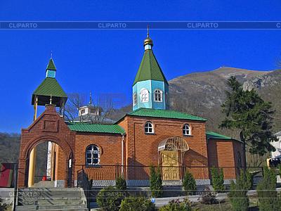 Christliche Kirche und Berg | Foto mit hoher Auflösung |ID 3062633