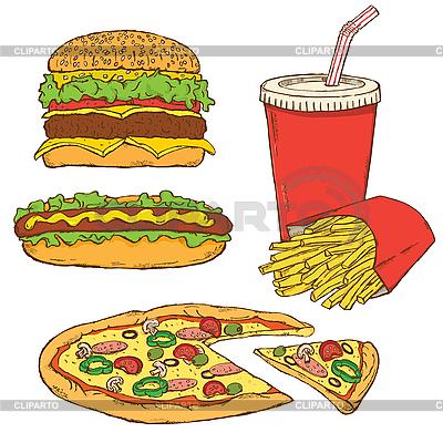 Zestaw fast food | Klipart wektorowy |ID 3059616