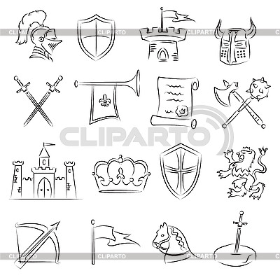 3d иконки средневековье: