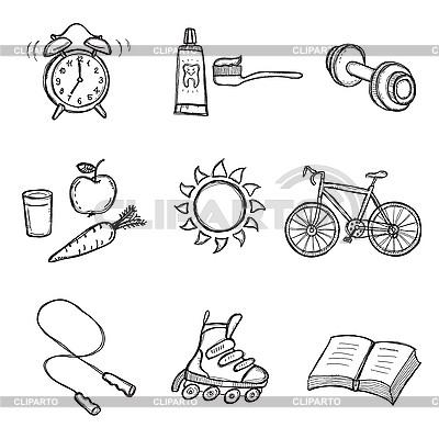 Gesunder Lebensstil | Stock Vektorgrafik |ID 3060661