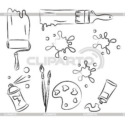 Narzędzia malarskie | Klipart wektorowy |ID 3063125