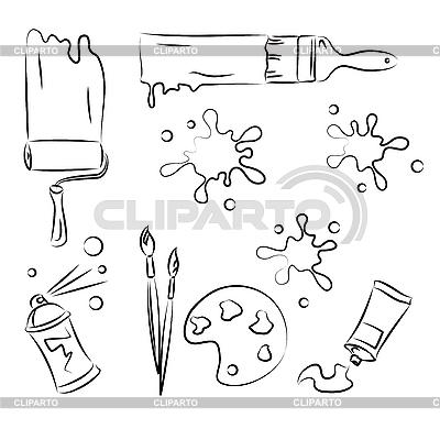 Malwerkzeuge | Stock Vektorgrafik |ID 3063125