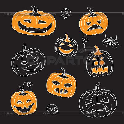 Halloween Pumpkins | Stock Vektorgrafik |ID 3064971