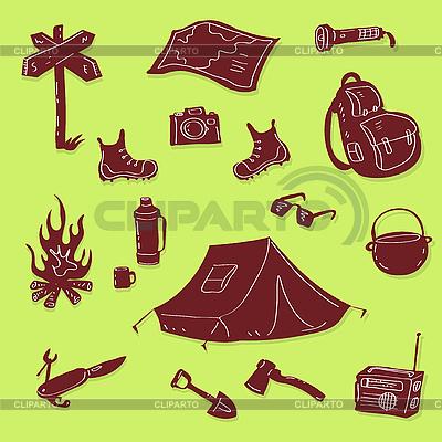 Zestaw Camping | Klipart wektorowy |ID 3082267