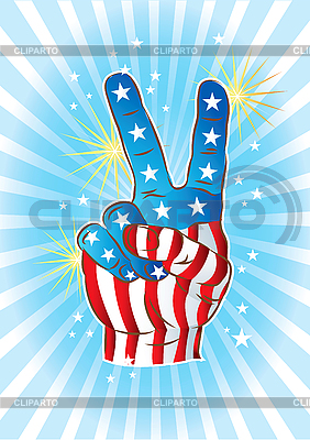 Hand mit Sieg-Geste | Stock Vektorgrafik |ID 3082409
