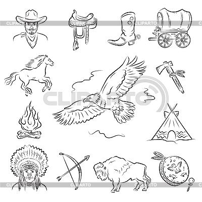 Western-Icons | Stock Vektorgrafik |ID 3082411