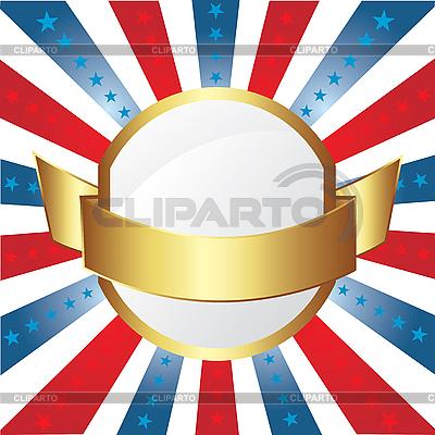 Amerikanischer Rahmen mit Streifen und Sternen | Stock Vektorgrafik |ID 3082471