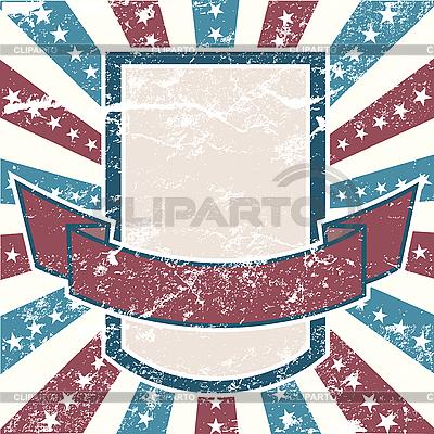 Американская гранж-рамка с полосами и звездами | Векторный клипарт |ID 3082483