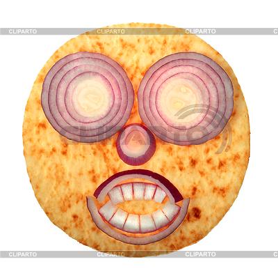 Smiley-Gesicht aus roten Zwiebeln | Foto mit hoher Auflösung |ID 3071741