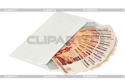 Russisches Geld im Umschlag | Foto mit hoher Auflösung |ID 3060715