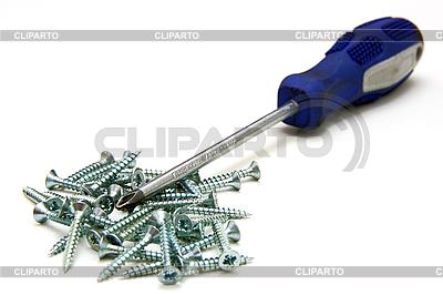 Schraubendreher und kleine Metallschrauben | Foto mit hoher Auflösung |ID 3068701
