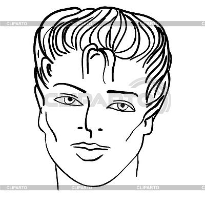 남자`s는 얼굴 | 벡터 클립 아트 |ID 3068959