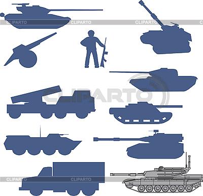 Set von Tanks collection | Stock Vektorgrafik |ID 3075416