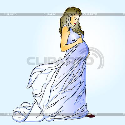 Карандашом беременные девушки фото