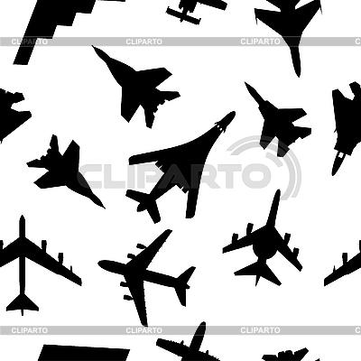 Jednolite wzór samolotów wojskowych | Klipart wektorowy |ID 3075900