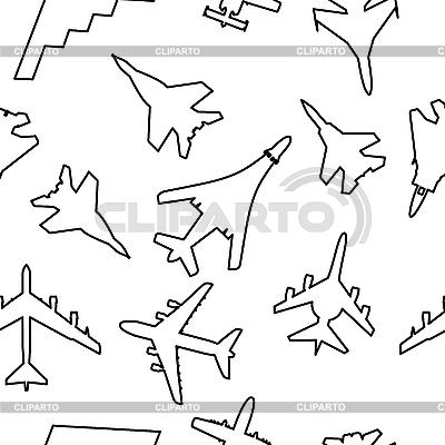 Nahtloses Pattern von Militärflugzeugen | Stock Vektorgrafik |ID 3076457