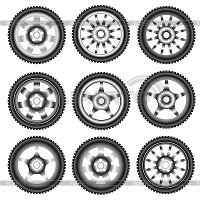 Aluminiowe felgi samochodowe | Klipart wektorowy |ID 3100297