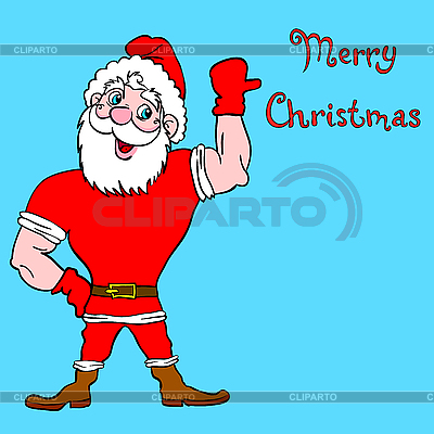 Weihnachtsmann Bodybuilder | Stock Vektorgrafik |ID 3100299