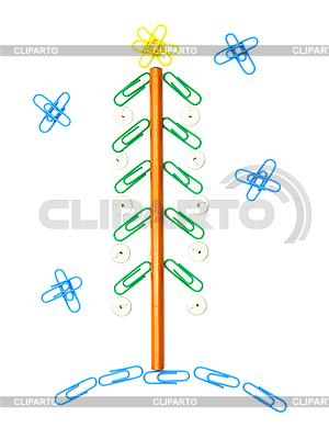 Weihnachtsbaum von Büroklammern | Foto mit hoher Auflösung |ID 3101297
