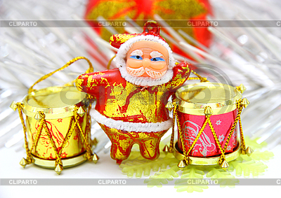 Santa Claus mit einer Trommeln | Foto mit hoher Auflösung |ID 3101506